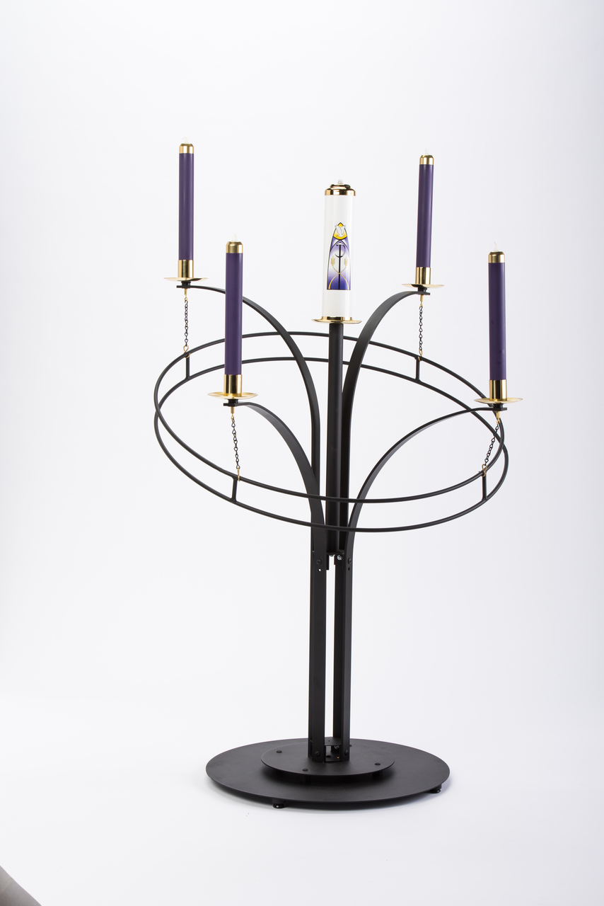 Church Clerical Church Furnishings Candle Holders Advent Wreath Contemporary Black